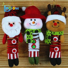 Christmas Pendant Christmas Figurines Swing Spring Foot Promotional Giveaways Christmas Dolls(China)