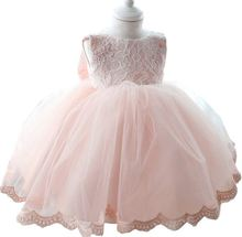 2017 new princess dress for girls baby kids clothes children wedding clothing summer 1 years birthday tutu dresses for girl