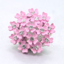 2colors Babysbreath Flower 18mm metal  snap button Wrist watches for women jewelry charm bracelet one direction 020301