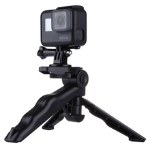 Universal For Gopro Tripod Mount 1/4 Screw Desktop Handle Stabilizer Portable Folding Stand for Canon Nikon Camera DV Camcorder