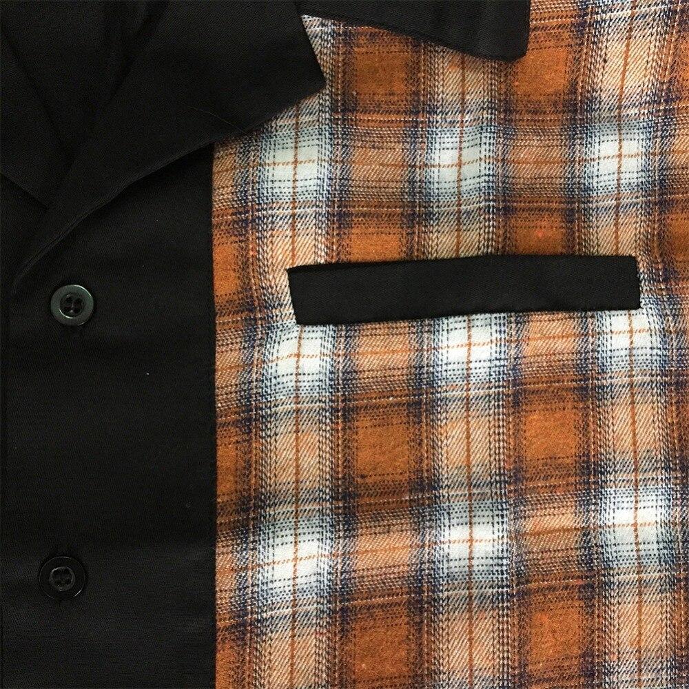 Patchwork Plaid Shirts  (4)