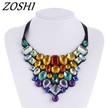 2017 Trend NEW FASHION Vintage Classic Choker Necklace Full Crystal Rope Chain Pendant Necklace For Women Girl Gift Statement