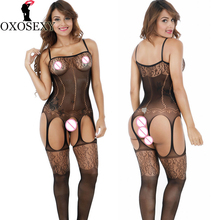 Buy OXOSEXY 2017 Open Crotch bodyStockings Hollow women sexy lingerie hot mesh Fishnet erotic Lingerie bodysuit sexy costumes 340