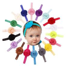 18PCS Babys Girls hairband Cloth kids headband flower children Elastic Shabby Flower Headband Photography bay care accessories