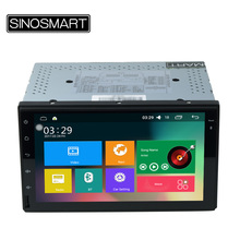SINOSMART Support 4G RAM 2G/1G 7 inch Super Big Flat Screen Android 6.0 Car GPS Player Universal for Any Car No Canbus