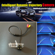 Auto Rear view Camera / HD CCD Car Intelligent Dynamic Trajectory Backup Reverse Parking Camera For Renault Megane 2 II