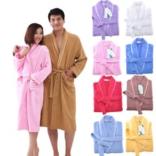 MMY Brand 2015 High Quality Cotton Robe Solid terry Bathrobe Bathroom/Home/Hotel/Pool Dressing Gowns for Women Free Shipping New