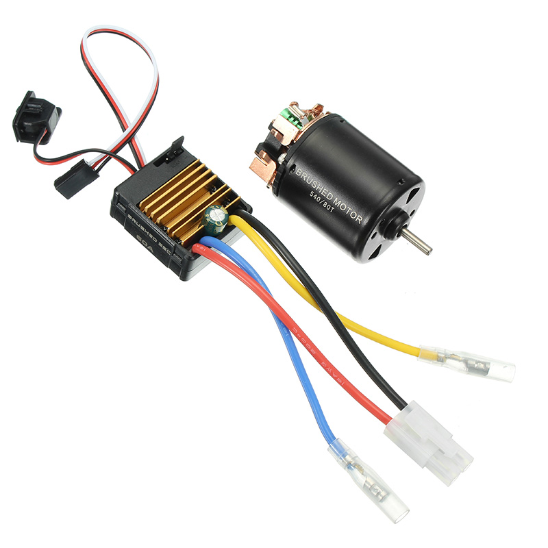 540 Motor 60A ESC Carbon Brushed 1/10 RC Crawler Shaft 3.175mm RC Car Parts<br>