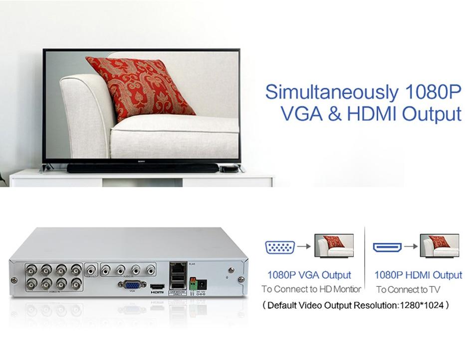 H.VIEW AHD DVR 8ch 4ch Recorder Surveillance 1TB HDD AHD DVR 8ch 4ch Recorder Surveillance for Analog TVI CVI IP Camera (5)