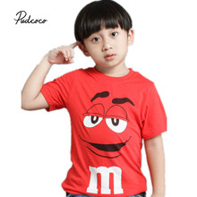 Pudcoco Baby Boys Fashion Clothes 1 piece Cartoon Character Cotton Blend Red Baby Boys Girls Short O-Neck T-shirt(China)