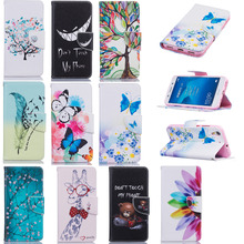 Luxury PU Leather Back Cover Case Protective Shell For Huawei Honor 5A Clamshell Wallet Flip Phone Case With Card Holder