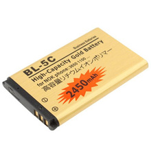 BL-5C BL 5C BL5C Gold Replacement Rechargable Battery For Nokia 2710 2730c 3100 3105 3109C 3110C 3120 3110 Evolve 3125 3208c ect