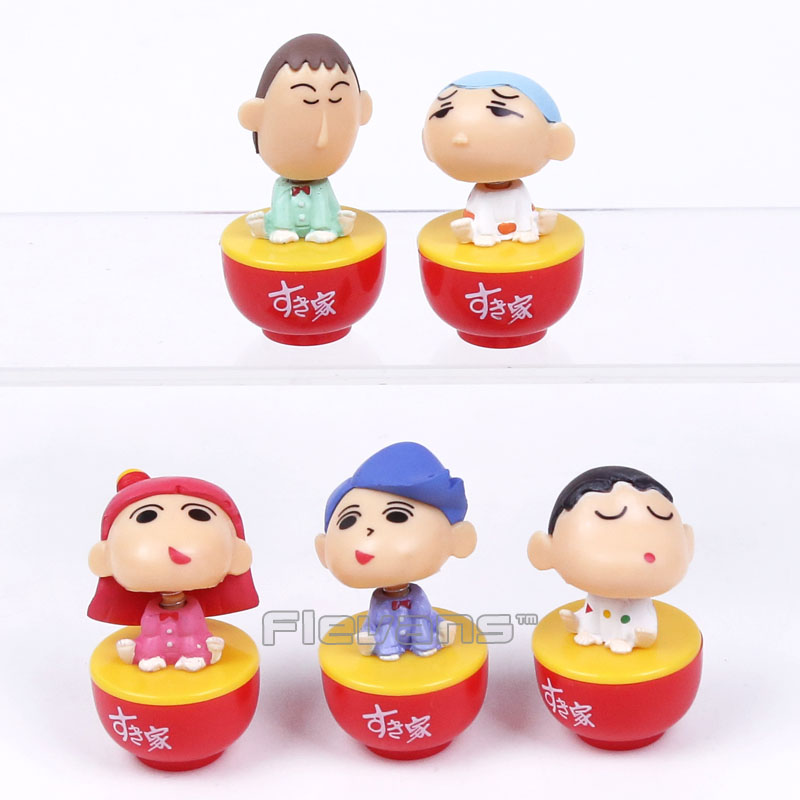 Anime Cartoon Crayon Shin chan Tumbler Toys Action Figures Kids Toys Gifts for Children 5pcs/set 5cm Boxed<br><br>Aliexpress