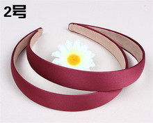 Satin Headband Hair Band  plain color Alice Hairband bow hoop 2cm wideth