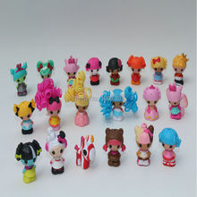 20pcs/lot 3cm Hard SQUINKIES Toy MINI Lalaloopsy Doll Ornaments Bulk Pendant Pick by Random Girls Gift