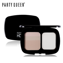 Party Queen Lightweight Matte Oil-free Compact Pressed Powder Makeup Contour Highlight Brighten Translucent Fix Face Foundation(China)
