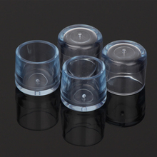 SZS Hot 4Pcs Transparent Rubber Furniture Table Chair Leg Floor Feet Cap Cover Protector 24mm(China)