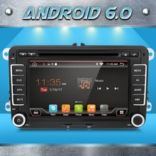 2 two din Aux gps Quad 4 Core android 6.0 car dvd player TV For VW Skoda POLO GOLF 5 6 PASSAT CC JETTA TIGUAN TOURAN Fabia Caddy(China)