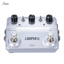 LOOPER3 Guitar Effects Pedal Aluminum Alloy Mono Stereo Input/ Output Sound Recording Surface Design with USB Cable