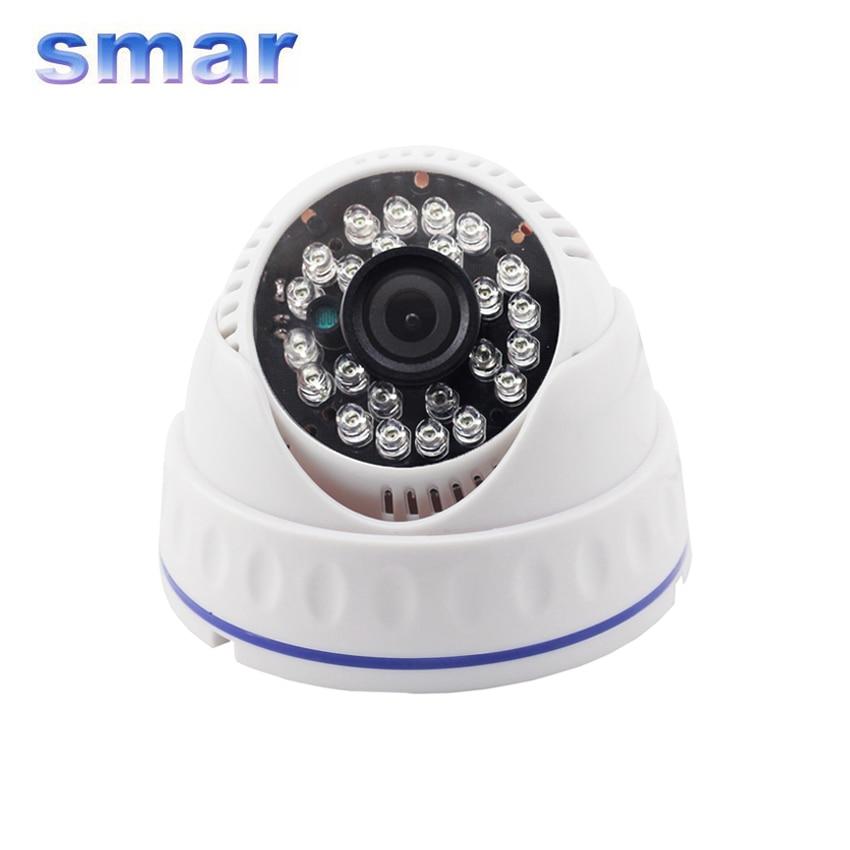 Smar Indoor Dome Analog Camera CCTV 700TVL 1000TVL 24PCS IR LED Night Vision With Auto IR Cut Filter CMOS Sensor Home Security<br><br>Aliexpress