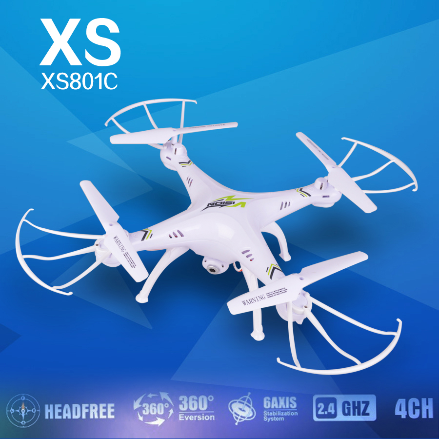 free shipping KF XS801C 2.4G 6-Axis RC Drone RC Quadcopter with 2MP HD Camera RTF Headless Mode quadcopter vs X5hw x601 x400<br><br>Aliexpress