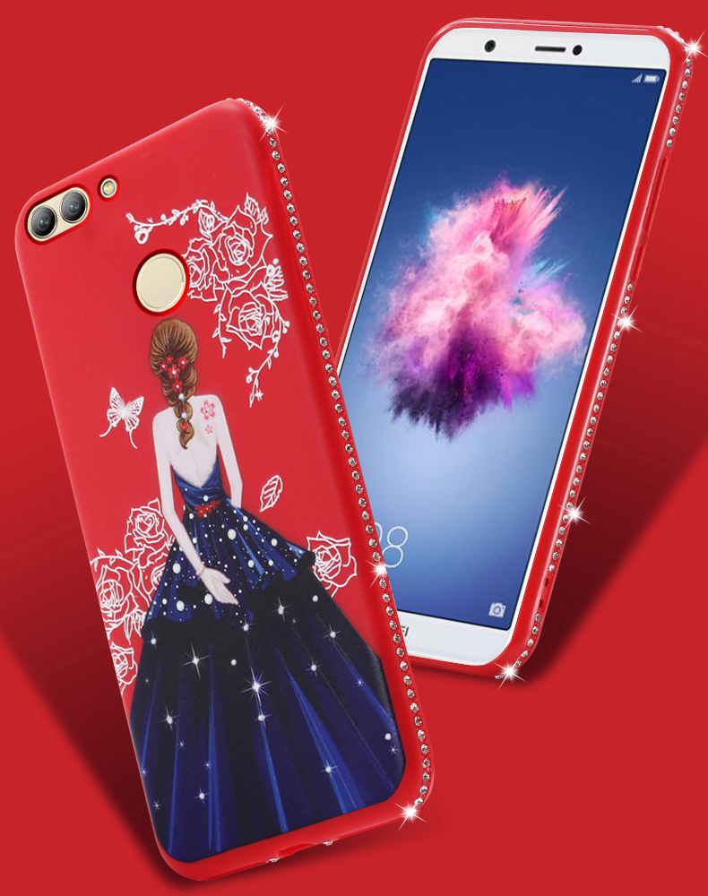 Dress girl silicone case huawei p smart (2)