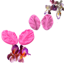 2pcs/set  silicone mold 3D flower cooking wedding decoration baking Sugar Craft Molds  Leaves DIY Cake fimo