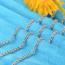 6 pieces / Lot Silver Plated Chain Necklace For Women And Men Stainless Steel Silver Chain Fashion Women Jewelry Collares na1(China)
