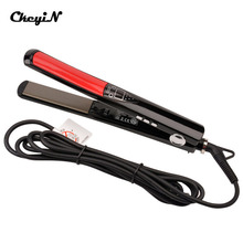 LCD Display Titanium plates Flat Iron Straightening Irons Styling Tools Professional Hair Straightener Floating Ceramic Plate 47(China)