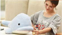small cute plush whale toy soft big head blue whale doll gift about 40cm(China)