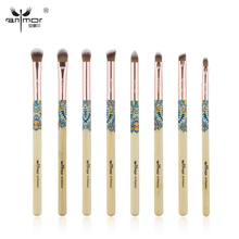 Anmor 8PCS Eye Shadow Makeup Brushes Kit Professional Make Up Brushes Bamboo Cosmetics Brush Set