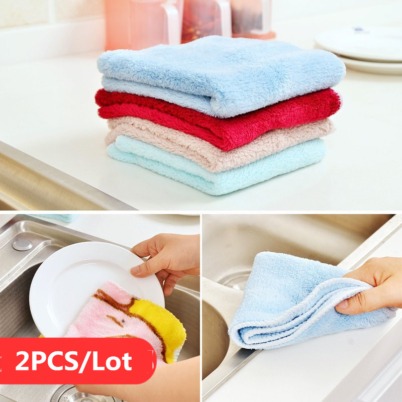 2PCS Microfibre Cloth Car Cleaning Buffing and Dusting Cleaning Towel Kitchen Table Wiping Water Wipe Bowl Dishes Oil Hair Cloth(China (Mainland))