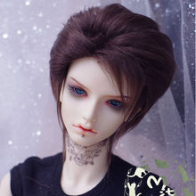 [wamami]Dark Brow Middle-long Short Wig Hair SD DOD DZ 1/3 BJD Dollfie 22-23cm(China)