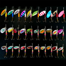Hot 30pcs/lot Spinners Fishing Lure Mixed Color/Size/Weight Metal Spoon Lures Hard Bait Fishing Tackle Metal Lure Atificial Lure