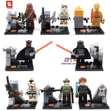 Buy 8pcs star wars super heroes marvel avengers SY198 Darth Vader/C3PO building blocks model bricks toys children juguetes for $6.60 in AliExpress store