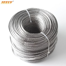 Free Shipping Best Quality 3mm 50M 12 Weaves 2000lbs Towing Winch Rope Spectra(China)