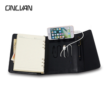 ONLVAN Diary with 4000 mAh Portable Source PU Leather Travelers Notebook Business Accessories Office Supply Novel Stationery(China)