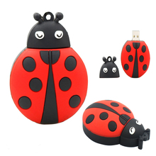 Pendrive 128GB USB Flash Drive 2.0 memory 4G 8GB 16GB 32GB 64GB Animal Ladybird Insect usb Flash Memory pen drive 16 gb u Disk