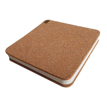 Cork Wood Phellem Notepad Yellow Cork Wood Notebook Loose Leaf 60 Sheets Recycle Paper Memo Pads Note Pads