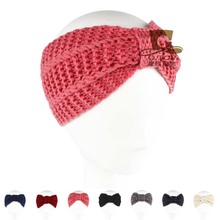 Womens Wool Knitted Headband crochet handmade Hair Band  Earmuffs Winter Warm hat  Girls KH-98
