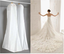 "2017 New Foldable White Bridal Wedding Dress Prom Gown Storage Bag Cover 170cm/68"" Home Storage Wedding Party Supplies"