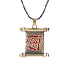 Hot Game DOTA2 Series Choker Necklace Jewelry Wholesale The Elder Scrolls Transfer Reel Vintage Pendant Necklaces For Men Gift(China)