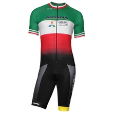 2017 pro team ASTANA aero Cycling skinsuit Short sleeve summer bodysuit bike clothing MTB Ropa Ciclismo speedsuit
