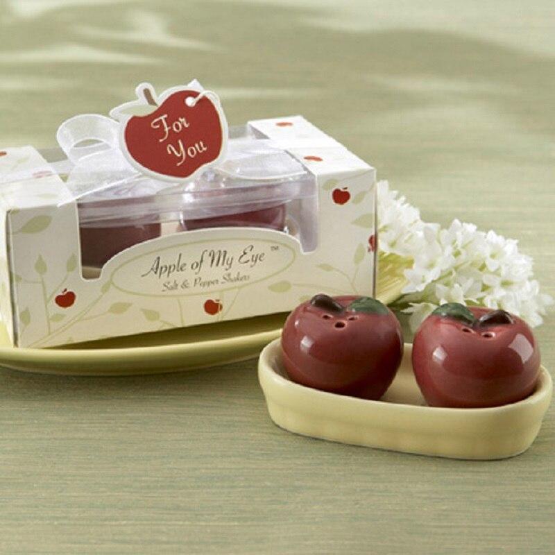 Buy Apple Ceramic Salt Pepper Shaker Wedding Favors Gifts Bridal