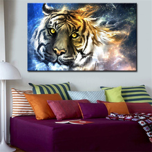 abstract tiger head creative wall picture creative oil painting print canvas top idea decor wall art for wall painting no framed