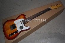 Free shipping Flame maple neck instrument Custom shop Real photo Ameican Sandard VOS Sunburst Telecaster Electric Guitar