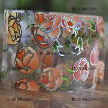 Nail Art Wholesaler Easy DIY Nail art Product Nail Glue Transfer Foil Orange Pink Flower Bub Clear Base YC431