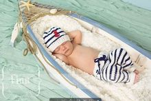 Crochet Newborn Baby Fisherman Hat and Pants Set Infant Kids Crochet Photography Props Baby Halloween Costume