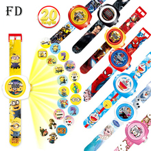 FD Creative Reflection Children Watch Cute Cartoon Pattern Minions Cool LED Display Kids toy Clock 2017 Hot New Girls Boys gifts