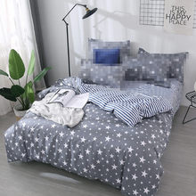 Grey star duvet cover 1pc RU family quilts cover 150*200cm single size bedding home textile bedclothes geometry comforter cover(China)